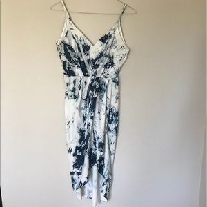 Dresses & Skirts - Blue Watercolor Print Dress